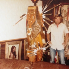 Kenny Hill in his home, Chauvin, LA circa 1990